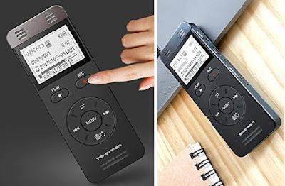 Yemenren Dictaphone - Mini Smart Voice Activated Audio Recorder