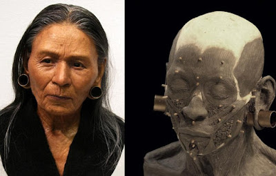 The weathered face of a Peruvian queen has been reconstructed