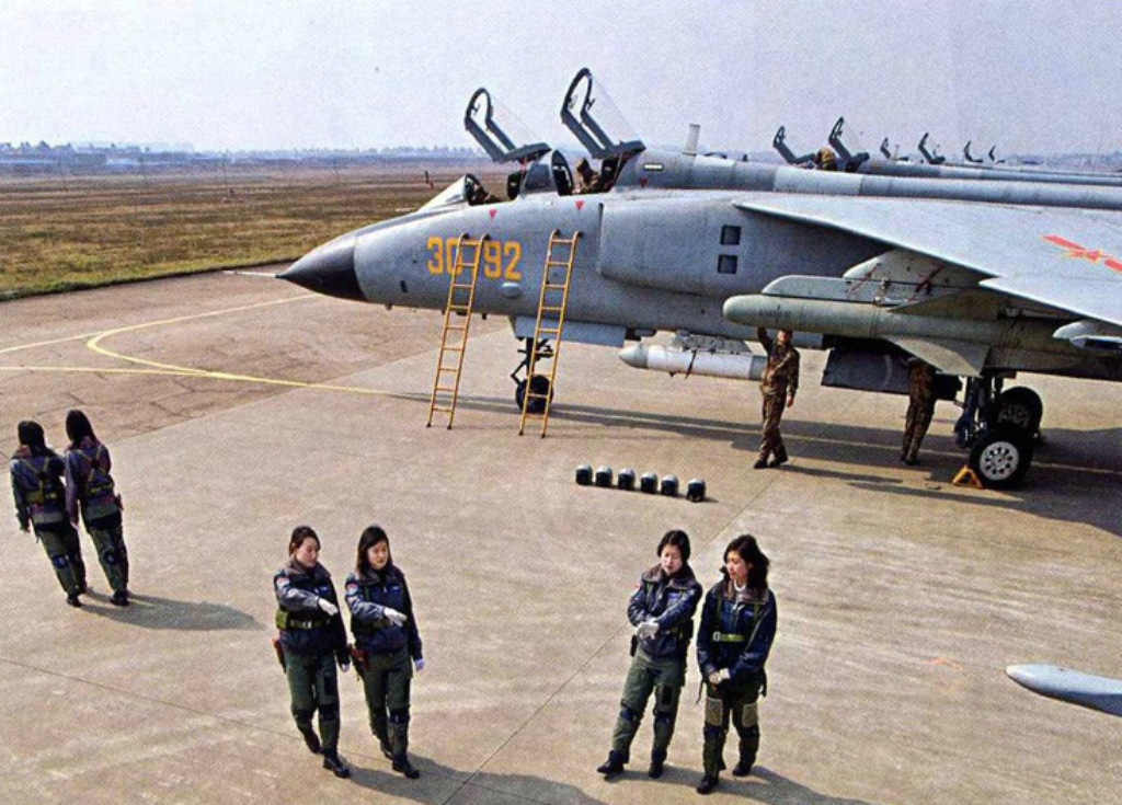 Female Pilot of Chinese People's Liberation Army Air Force (PLAAF