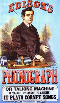 Edison's Phonograph It talks! It Sings! It Laughs! It Plays Cornet Songs.