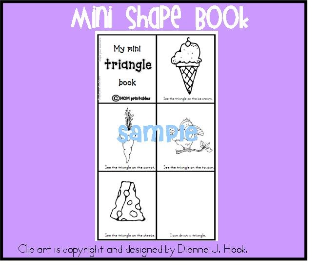 musings of me Triangle Mini Shape Book