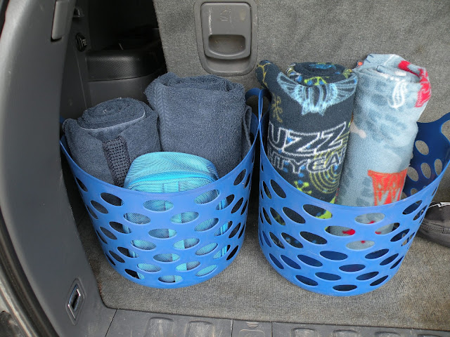Organizing your car for springtime fun, sports and activities.