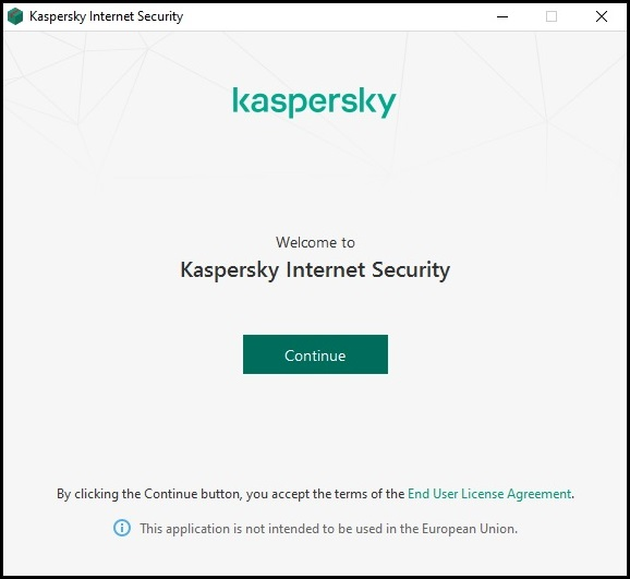 KIS - Welcome to Kaspersky Internet Security