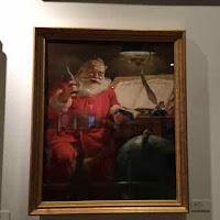 Illustration of the Coca-Cola Santa