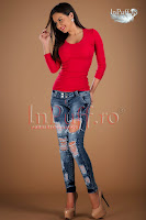 Bluza casual rosie din bumbac (Atmosphere)