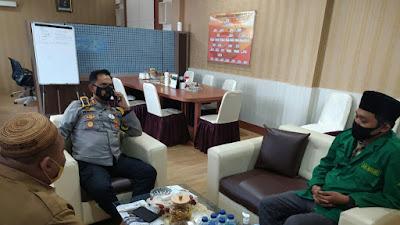 Bangun Sinergisitas Program, GP Ansor Kota Gorontalo temui Kapolres