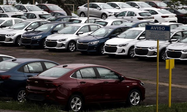 Venda de veículos automotores aumenta 0,45% de outubro para novembro