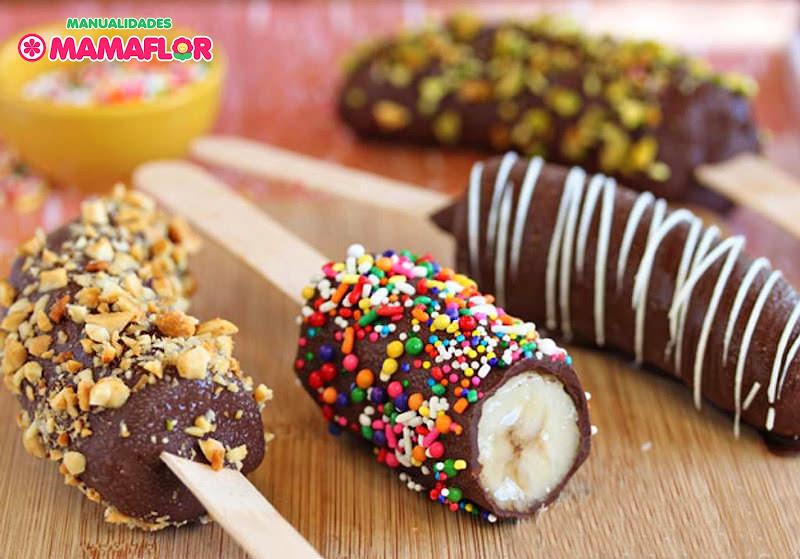 Chocobananos: Paletas Helados de Banana y Chocolate
