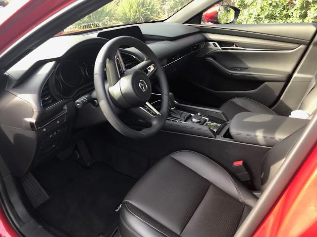 Interior view of 2020 Mazda3 Hatchback AWD