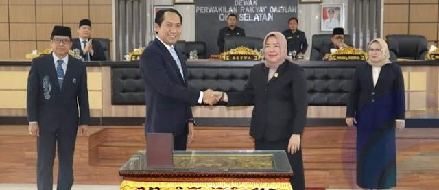 Bupati dan Ketua DPRD OKU Selatan Tandatangani Persetujuan Bersama RKA OPD Perubahan APBD