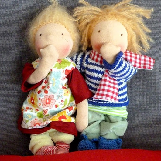 Belambolo - Puppenhandwerk: Puppengeschwister - Doll twins - girl and boy