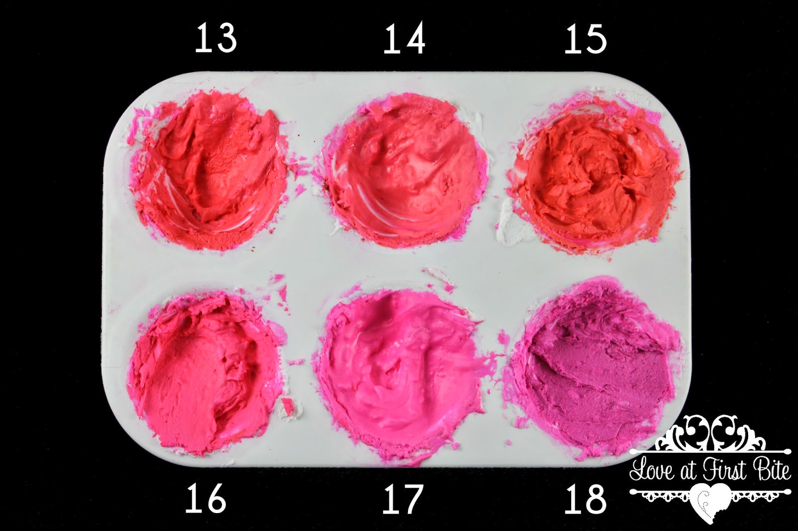 Electric Pink Mixed With Primary Reds 13 Super Red 14 15 Tulip 16 Xmas 17 Holiday 18 Burgundy