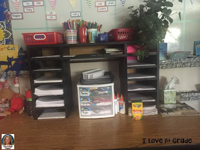 writing center; work on writing; first grade