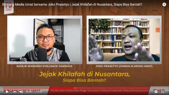 """foto spanduk bertuliskan """"Awas! Bahaya Laten Khilafah"""" dan tulisan senada yang diduga dipasang di berbagai tempat strategis di Cirebon viral di medsos"""