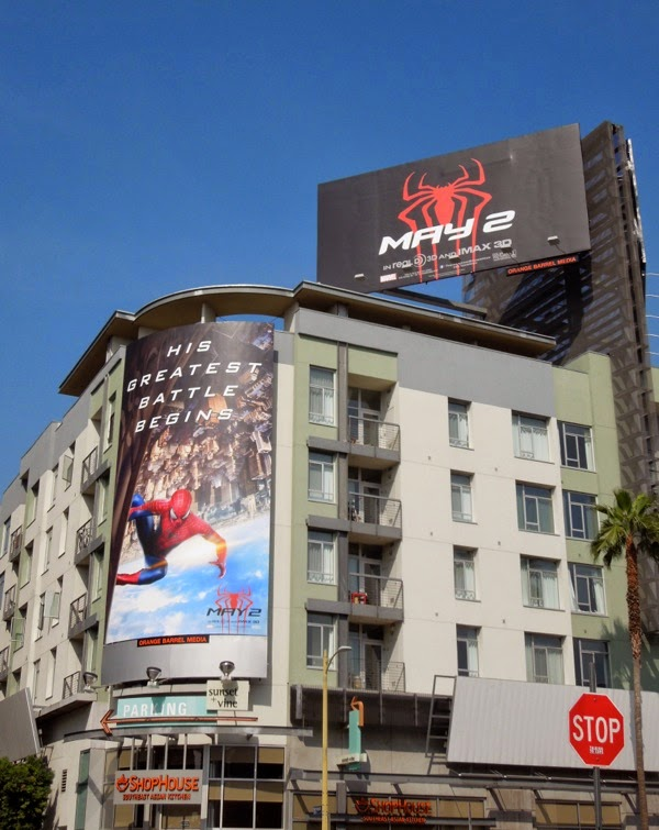 The Amazing Spiderman 2 movie billboards