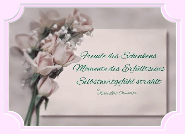 Karins Gedichte Blog Freude Des Schenkens