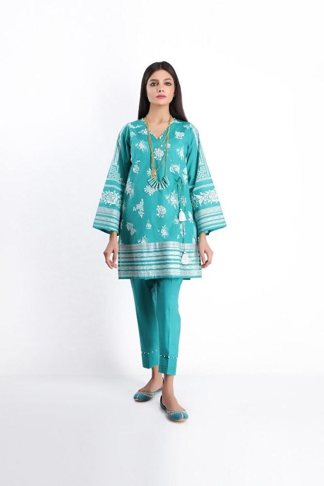 Khaadi Lawn shirt & Shalwar green color