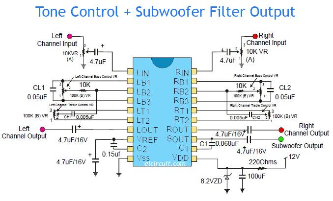 Amazing Tone Control Plus Subwoofer Filter Output Electronic Circuit Geral Blikvitt Wiring Digital Resources Geralblikvittorg