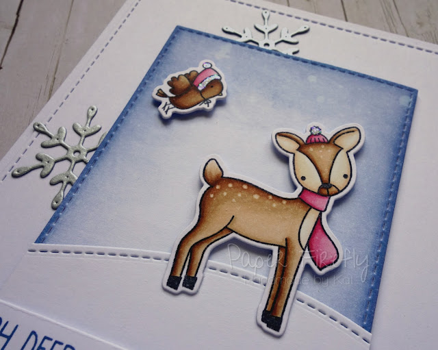 CAS Christmas card using Dashing Deer by MFT