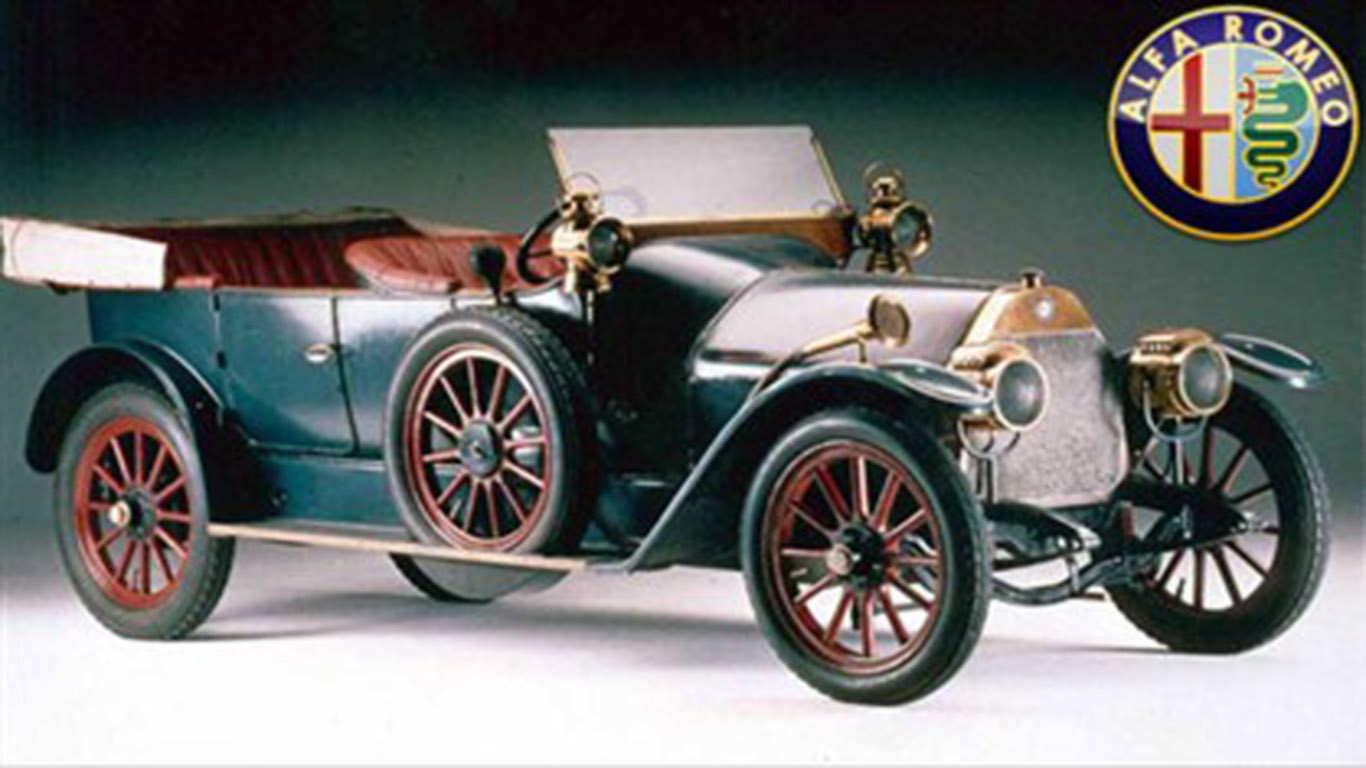 The first car was the Alfa Romeo 24 HP A.L.F.A ~ Dream Fantasy Cars