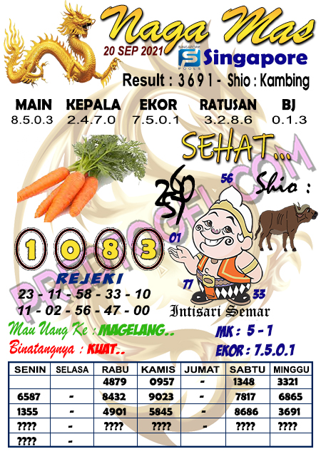 Syair Nagamas SGP Senin 20 September 2021