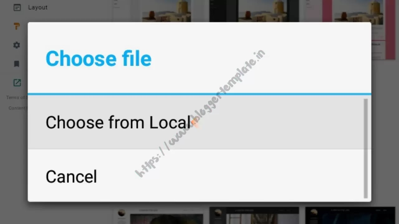 Then click Choose File to be able to upload the xml file