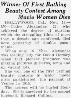 Claire Alexander Obituary