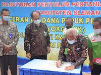 Bupati Sleman  Resmikan Nama Dagang Pupuk Organik Produksi Paguyuban Penyuluh Pertanian Swadaya Sleman