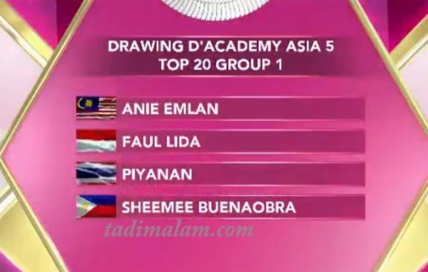 Group Top 20 Besar DA Asia 5