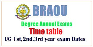 BRAOU CBCS Degree exams Fee Due Dates Time Table 2019 for BA, BCom, BSc Exams Date /2019/09/braou-degree-annual-exams-fee-due-dates-howtopay-fee-braouonline.in.html