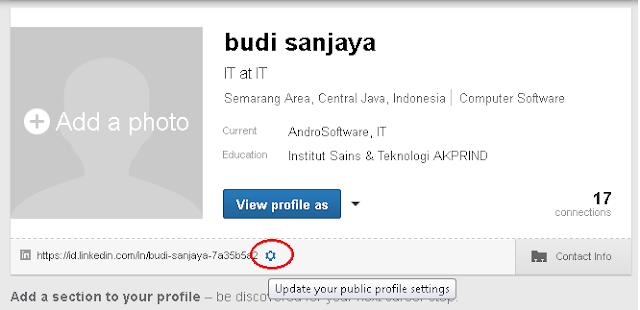 Cara Membuat URL Profile Linkedin