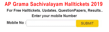 AP Grama Sachivalayam Halltickets 2019
