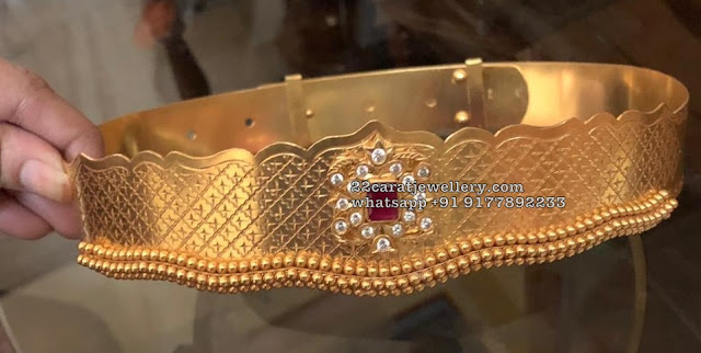 Simple Vaddanam Designs in 925 Silver