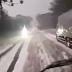 Motorista de caminhão registra vídeo impressionante de trecho da BR 116 coberta de gelo em SC