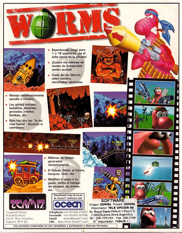 Worms IBM PC Caja 2