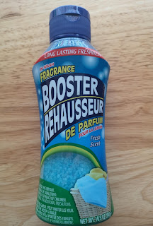 An unopened package of Fresh Scent In-Wash Laundry Fragrance Booster, from Dollar Tree