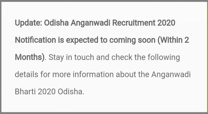 Odisha Anganwadi Recruitment 2020 Apply Online: Odisha Anganwadi District Wise List