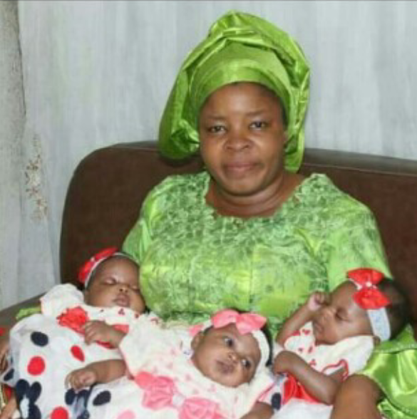 Nigerian woman gives birth to triplets after 18 years of Marriage
