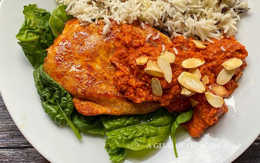 Chicken with Romesco Sauce