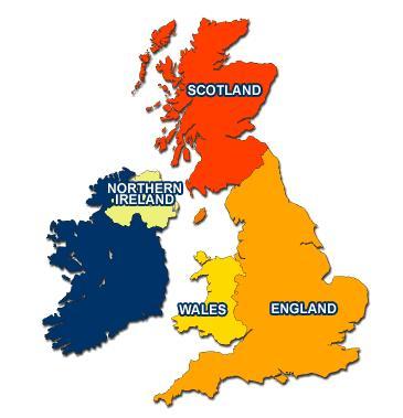 Bốn vùng của Vương quốc Anh