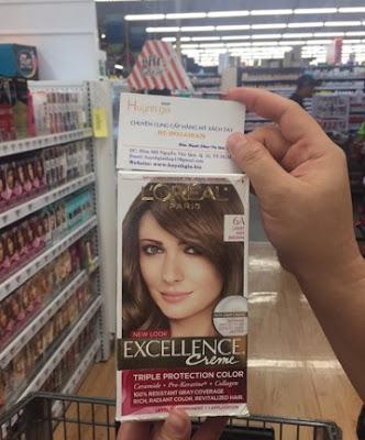 Thuốc nhuộm tóc Loreal Excellence Creme 6A mỹ phẩm xách tay từ Mỹ www.huynhgia.biz
