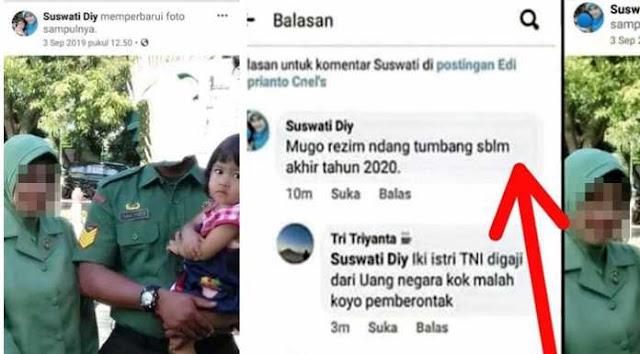 Istri Doakan Rezim Tumbang, Serma T Dipenjara di Rindam Jaya