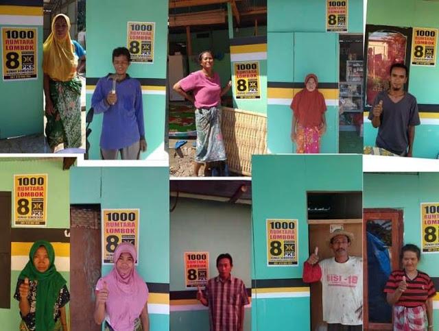 PKS Fokus Bangun 1.000 Huntara (Hunian Sementara) untuk Korban Gempa Lombok