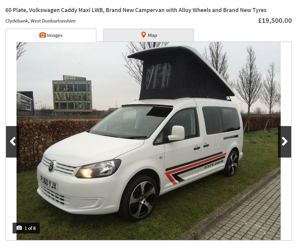 ebay scam volkswagen caddy 4 berth maxi lwb campervan. Black Bedroom Furniture Sets. Home Design Ideas