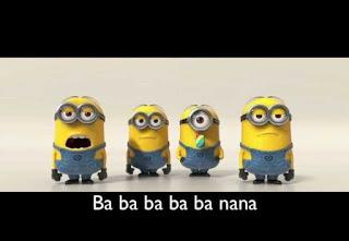 Funny Moment Minion Singing Banana