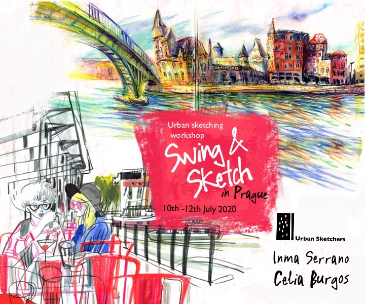 Usk Workshop Swing Sketch In Prague With Inma Serrano And