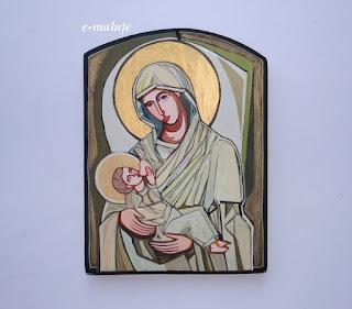 Karmiąca Madonna … Ikona Autorska… prezent na ślub… na Rodziny Powiększenie …