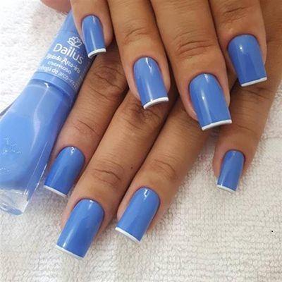 unhas decoradas azuis 10