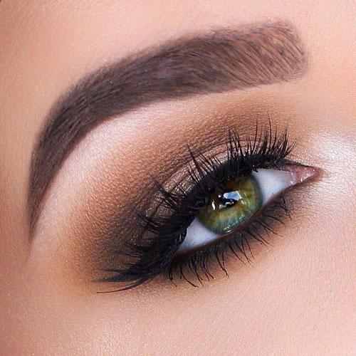 Maquillaje de día para ojos verdes