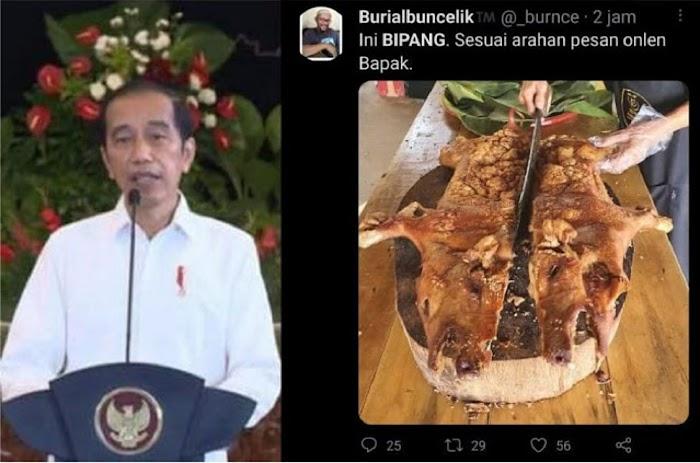 Jokowi Ajak Masyarakat Pesan Babi Panggang untuk Oleh-oleh Mudik